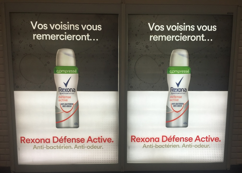 Rexona Défense Active publicité
